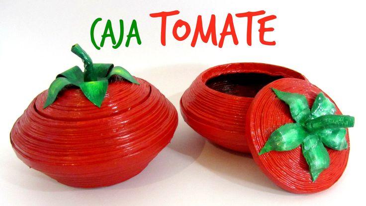 Empiezo el año con un proyecto de reciclaje creativo que te va a encantar, te enseño a hacer una original caja con forma de tomate! Más tutoriales: http://ww...