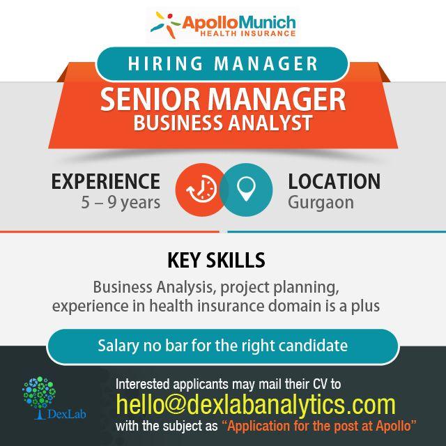Hiring Manager/Senior Manager- #BusinessAnalyst