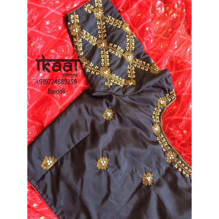 "109 Likes, 1 Comments - Ikaai Designs (इकाई) (@ikaai_designs) on Instagram: ""Handwork Blouse to give elegant look for your saree #HandWork #HandMade #HandCrafted #Embllishment…"""