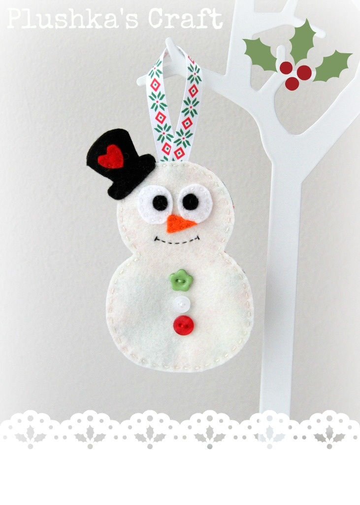Snowman Christmas decoration DIY
