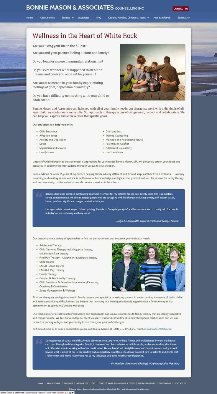 New site launched for our lovely client, Bonnie Mason, a therapist in White Rock, B.C.