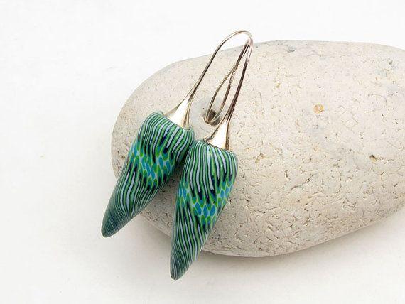 außergewöhnliche Ohrringe aus polymer clay  von polymerdesign
