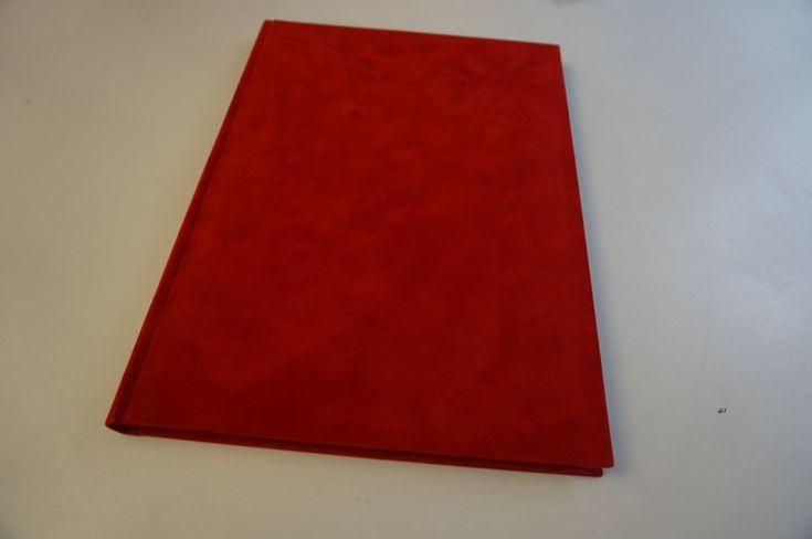 Rode notitieboeken A4 fleece dummy boek kopen notitieboek rood fluweel zachte harde kaft met 166 blanco bladen of lijntjes papiernotitie boek dikte 2cm -