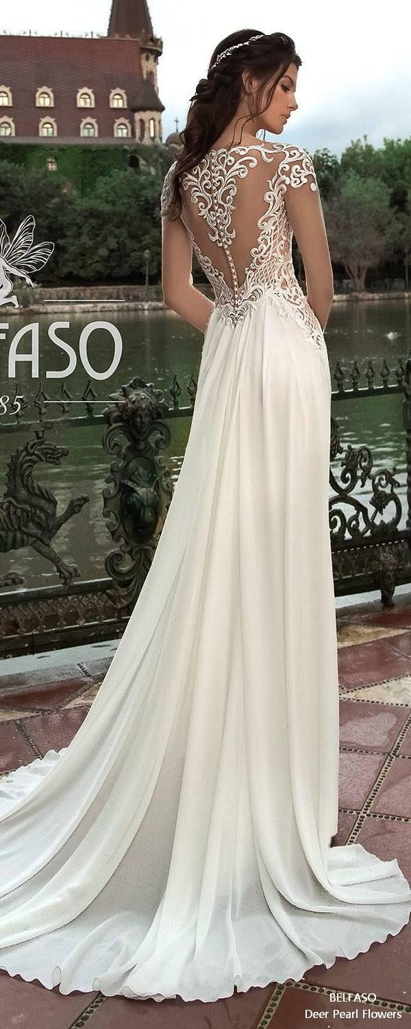 Long Sleeve Lace Elegant Bridal Gown Mermaid Sheath Beach Wedding Dress ALTERA 2