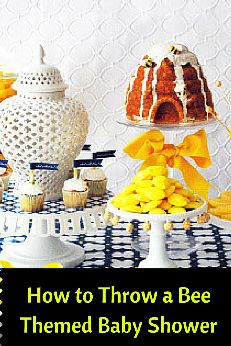 how to throw a bee themed baby shower baby showers ideas pinterest