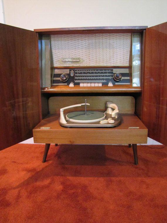 Mid Century Modern Telefunken Kaiser Stereo Cabinet, Turntable, Retro Stereo  Console, Mid Century Modern Stereo, AM/FMu2026 | Time Machine | Pinterest |  Stereo ...
