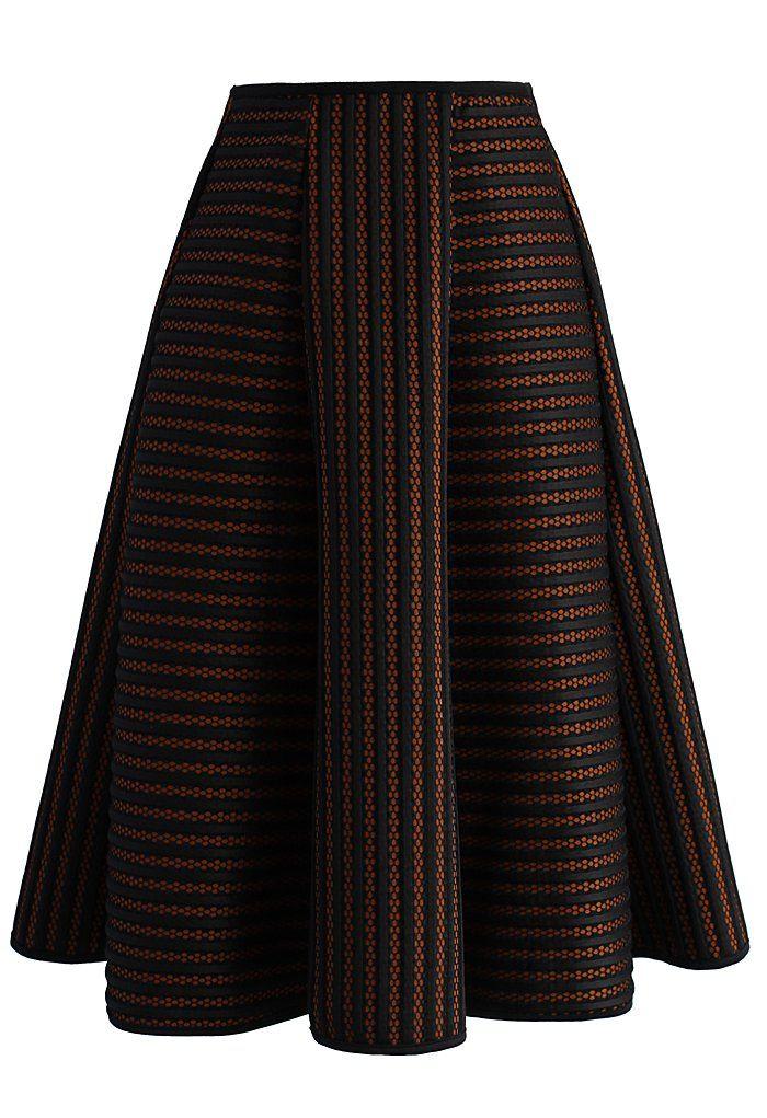 Versatile Stripes A-line Skirt - New Arrivals - Retro, Indie and Unique Fashion
