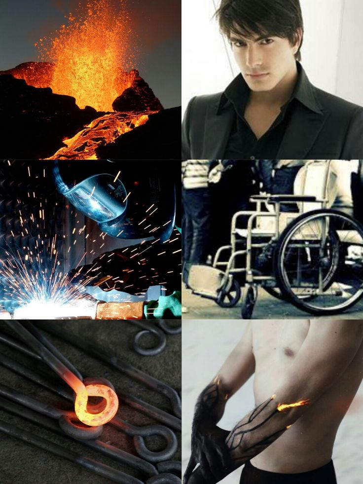 Hephaestus: the Greek god of blacksmiths, sculptors, metallurgy, fire and volcanoes; thus, he is symbolized with a hammer, an anvil and a pair of tongs.