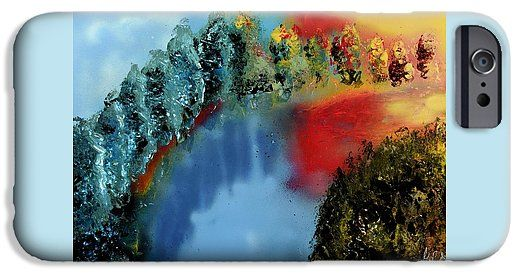 River Of Colors IPhone 6s Case Printed with Fine Art spray painting image River Of Colors by Nandor Molnar (When you visit the Shop, change the orientation, background color and image size as you wish)