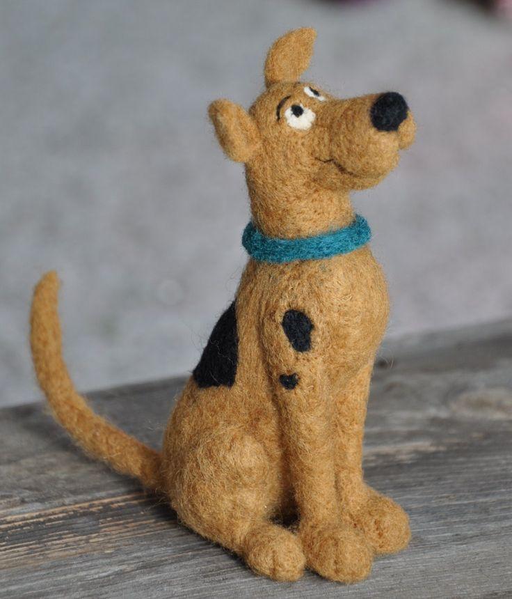 Needled felted Scooby by Teresa Perleberg