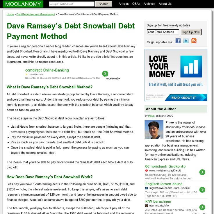74 best ** Debt snowball ** images on Pinterest Financial peace - debt reduction calculator