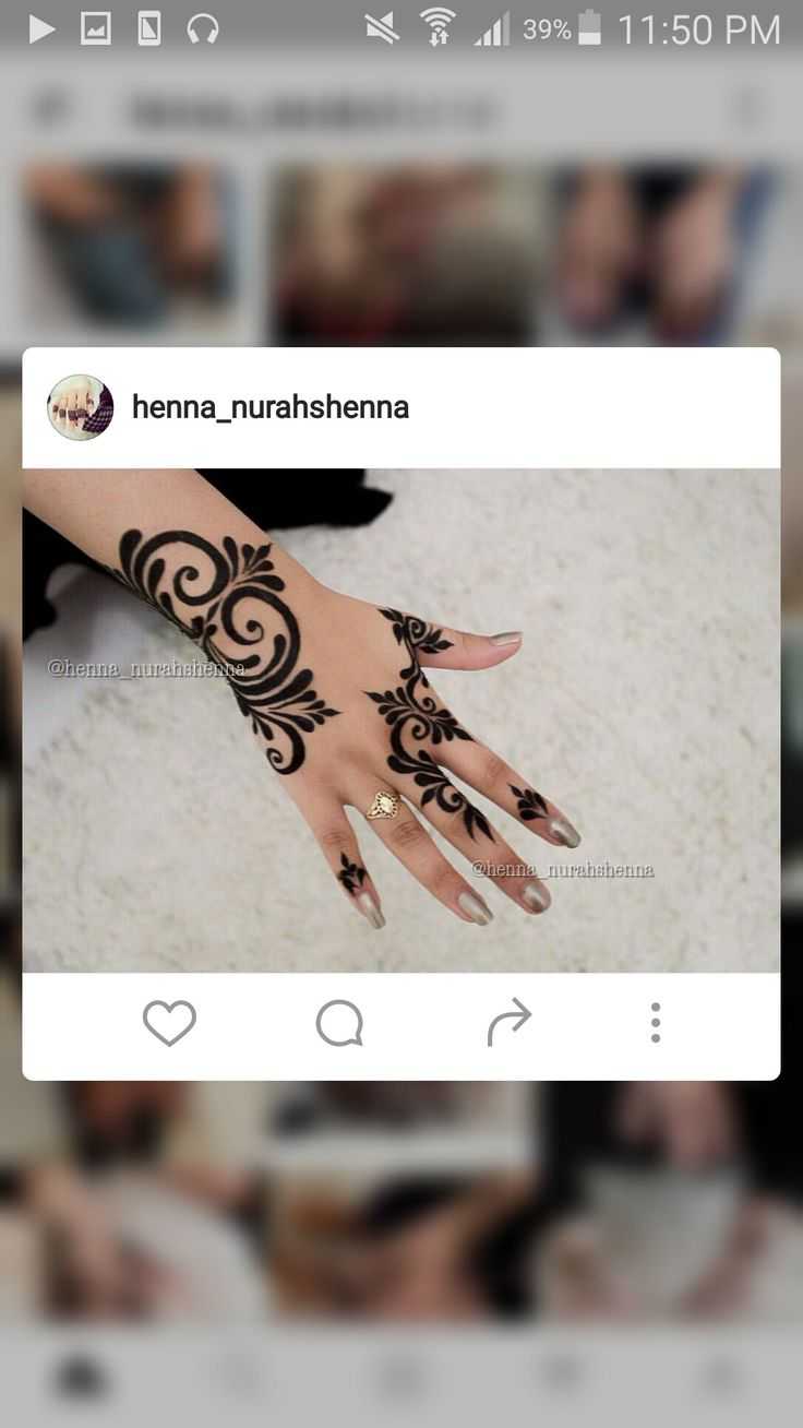 50 intricate henna tattoo designs art and design 50 - Henna_nurahshenna Henna Design 2016 Instagram Arabic Designs