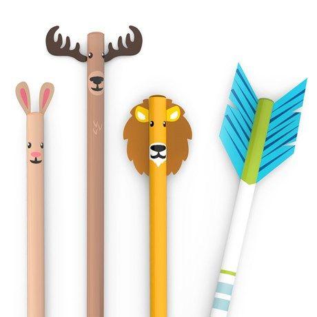 Lekende blyanter pyntet med ville dyr og piler!