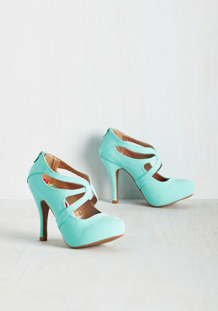 Live to Prance Heel in Mint. A strut through the streets in these vibrant heels is an expression of your love for fashion! #mint #modcloth