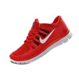 Nike Free 5.0+ Herresko Rød Hvit | Nike sko tilbud | billige Nike sko på nett | Nike sko nettbutikk norge | ovostore.com