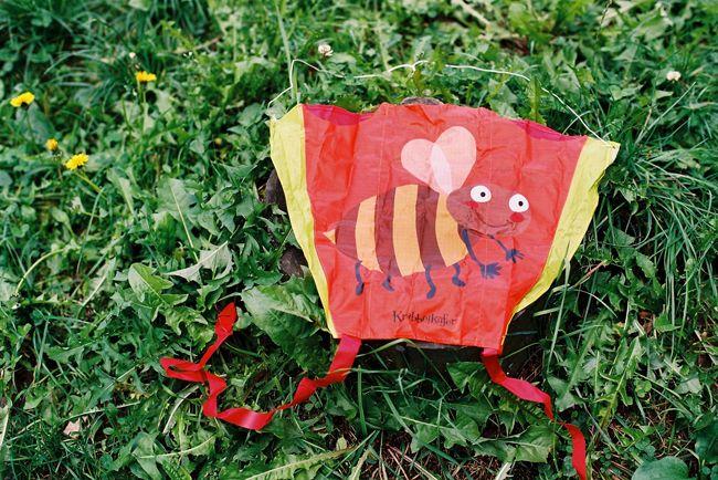 Vreckový šarkan, motív včielka (c) Foto Vnímavé hračky 2013