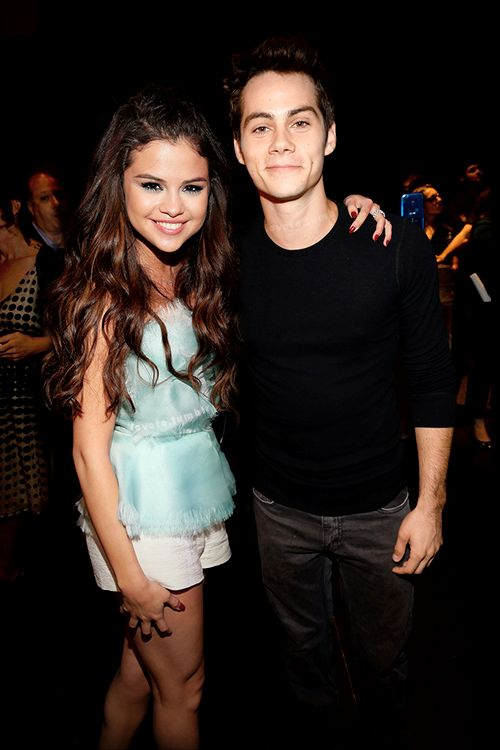 Dylan O'Brien with Selena Gomez