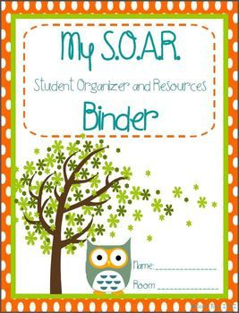 This cute owl-themed download includes:1 Student S.O.A.R. Binder cover (Student Organizer and Resources)1 Teacher Binder cover 2013-20141 Teacher Binder cover (no year labeled)Enjoy, and best wishes for a great school year!Nicole
