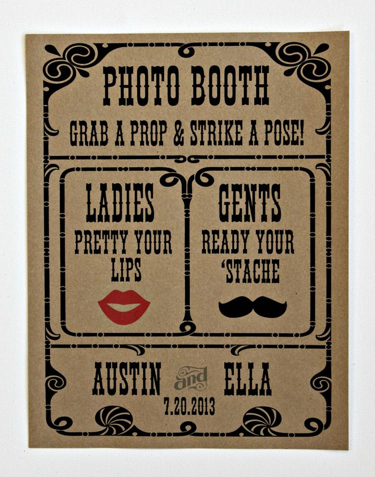 Custom Photo Booth Sign. Photo Booth Prop. Photobooth Prop. Photo Booth. Wedding Decor. Wedding Photos, Wedding Reception. $15.00, via Etsy.