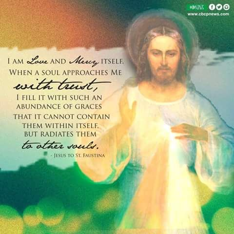 Jesus to St. Faustina - I am Love and Mercy itself. (Chaplet of Divine Mercy. tumblr)