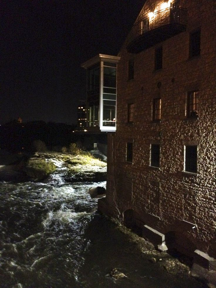 Cambridge Mill at night