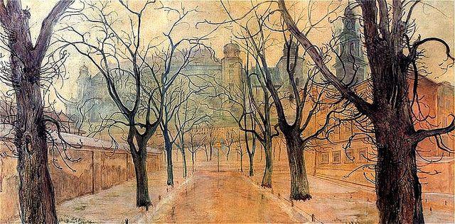 Wyspianski, Stanislaw (1869-1907) - 1894 Planty at Dawn (National Museum, Krakow, Poland), via Flickr.