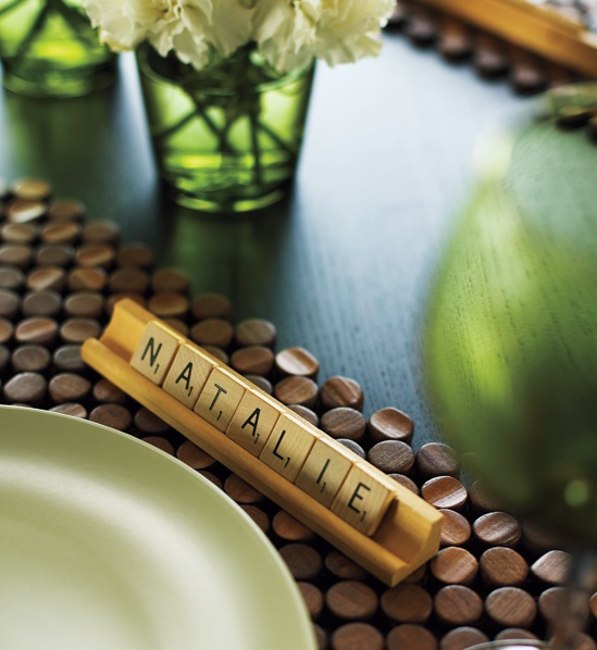 @Maureen Howells - i don't know if scrabble was just for your engagement pics, but if also for your wedding - this is super cute. and if glued down would make a fun favor.
