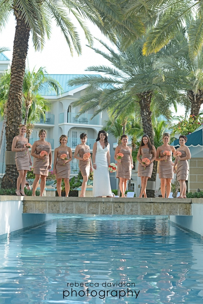 Taupe coral cayman islands wedding at the westin by for Caribbean wedding dresses for guests