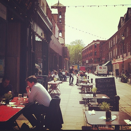 exmouth market. london summer