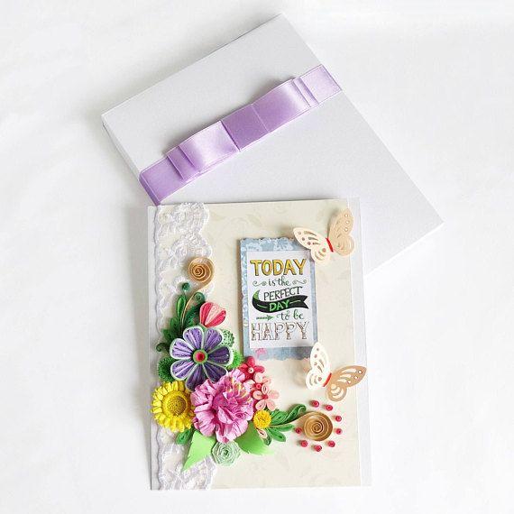 Beautiful Birthday Card Floral greeting cardAnniversary