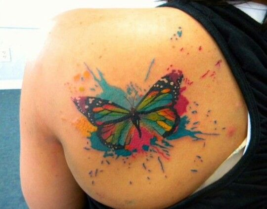 colorful butterfly tattoo watercolor butterfly tattoo butterfly tattoo ...