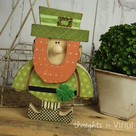 Wooden Leprechaun | St. Patricks Day crafts