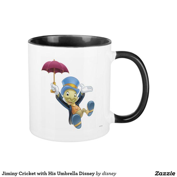 Jiminy Cricket with His Umbrella Disney. Regalos, Gifts. #taza #mug