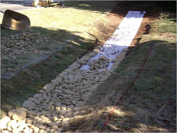 Backyard Drainage Ideas   Backyard drainage, Dry riverbed ...