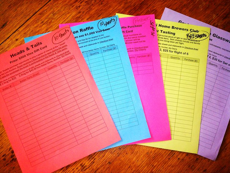 Must Do!! Manage Raffles & Games ticket sales at your fundraising event with these color-coded control sheets. Read more... http://www.freshfundraising.com/the-4-cs-of-cashing-in-for-your-cause