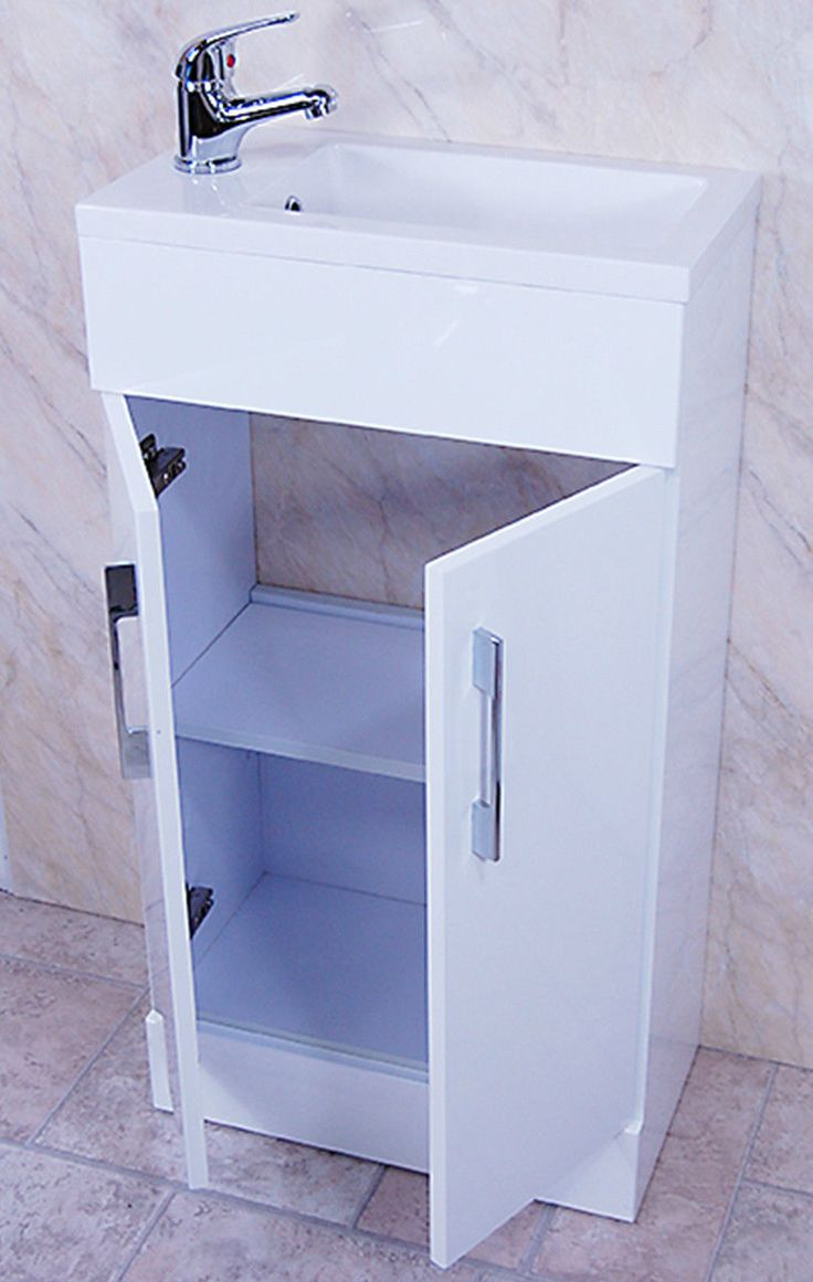 White Square Basin Vanity Unit Bathroom Compact Cloakroom Furniture 450 X  240. 30 best Cloakroom Basin Unit images on Pinterest   Cloakroom basin