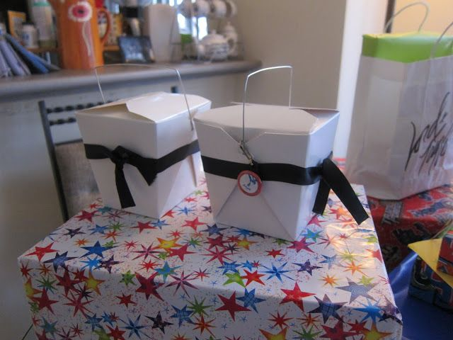 Karate Birthday Party Favor. Great gift basket for your guests' goodies!