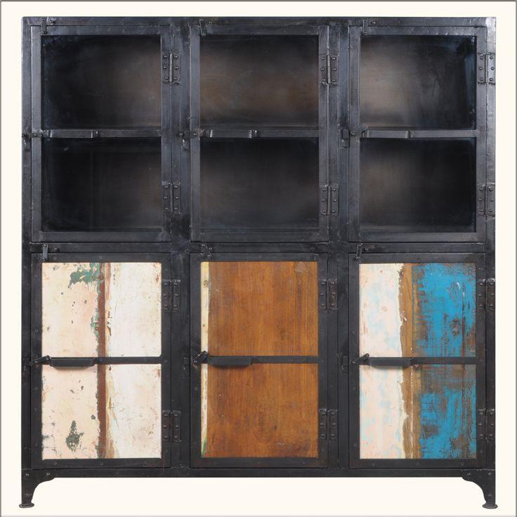 Kitchen Organization Wikipedia: Industrial Iron Rustic Reclaimed Wood Buffet Kitchen