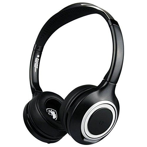 SADES D805 Multi-function Bluetooth Headset, Wireless Bluetooth Over Ear Earphones Office Headphones with Noise Reduction for Cell Phone/Skype-Black. High signal to noise ratio Bluetooth audio connection without any transmitter, totally free enjoyment of wireless music. Provide crystal-clear conversations even in noisy environment. Intelligent power saving mode,low power consumption design, built-in lithium battery allows continuous operation of over 6 hours. Portable folded design and...
