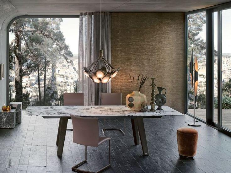 FONTANA Marble table by Draenert design Gino Carollo, Georg Appeltshauser