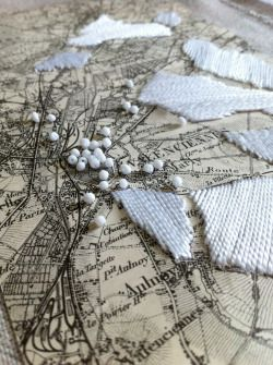 heritage-studio: embroidered map