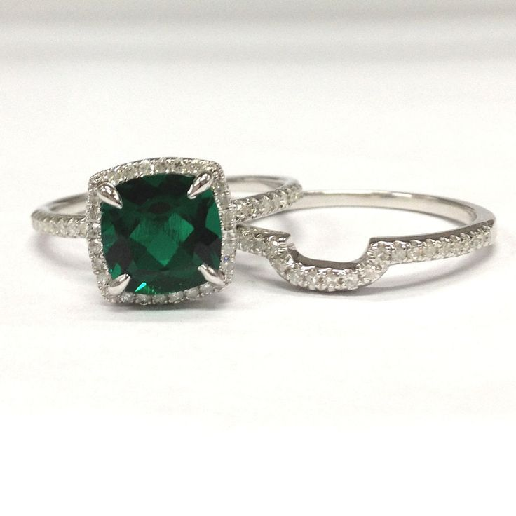 band market wedding etsy eternity silver il rings emerald ring