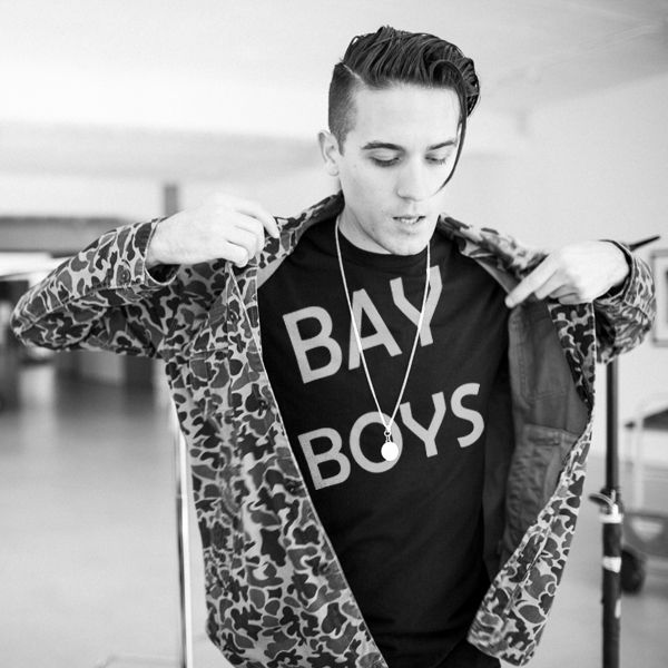 G-Eazy rocking a Bay Boys t-shirt