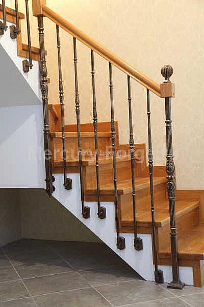 Литое ограждение лестницы - «Mercury Forge» #stairs #decor #home #grandeforge #художественноелитьё #mercuryforge #лестницы #ограждения #москва #дом #интерьер