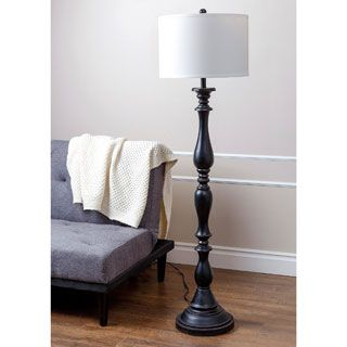 Abbyson Living Turnwood Black Floor Lamp | Overstock.com Shopping - The Best Deals on Floor Lamps