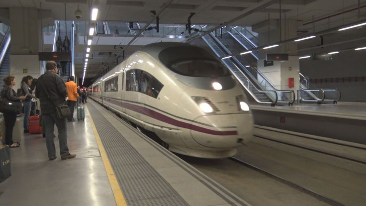 With High Speed Train AVE from Girona to Madrid ATOCHA - Spain 4K Travel...