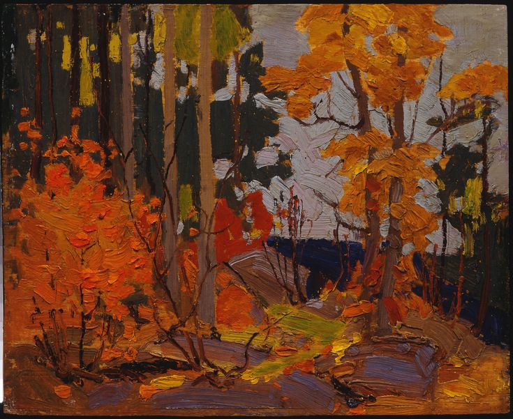 Tom Thomson Catalogue Raisonné | Autumn, Algonquin Park, Fall 1916 (1916.126) | Catalogue entry