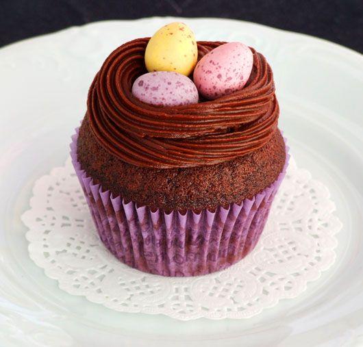 Eggs Nest Cupcakes
