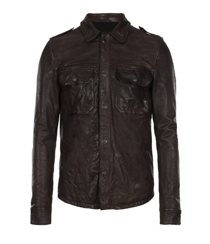 All Saints leather shirt. Leather shirt, Jackets, Leather