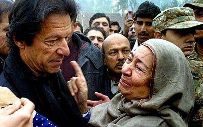 PESHAWAR: Pakistan Tehreek-e-Insaf (PTI) chairman Mr. Imran Khan and his newly wedded wife Reham Khan and KPK Chief Minister Pervez Khattak visited terror-hit Army Public School in Peshawar today ...